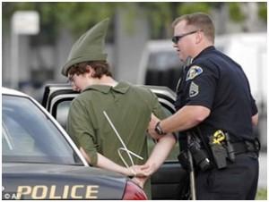 El momento de la detención del popular muchacho
