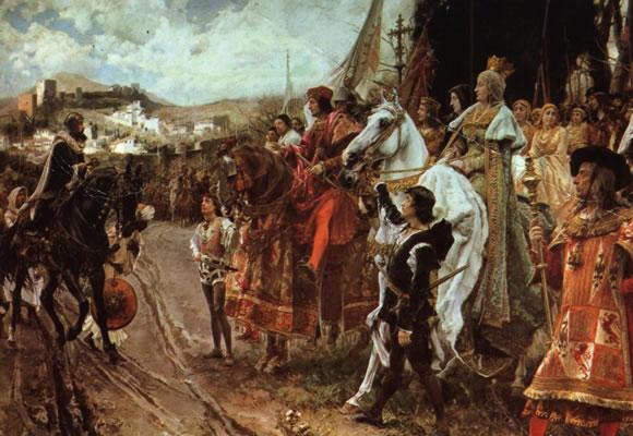 La Rendición de Granada, cuadro de Francisco Padilla.