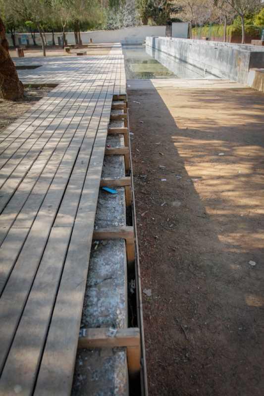 DETERIORO DEL PARQUE CUARTO REAL DE SANTO DOMINGO.   FOTO: RAMON L. PEREZ