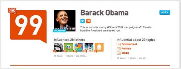 Obama Klout