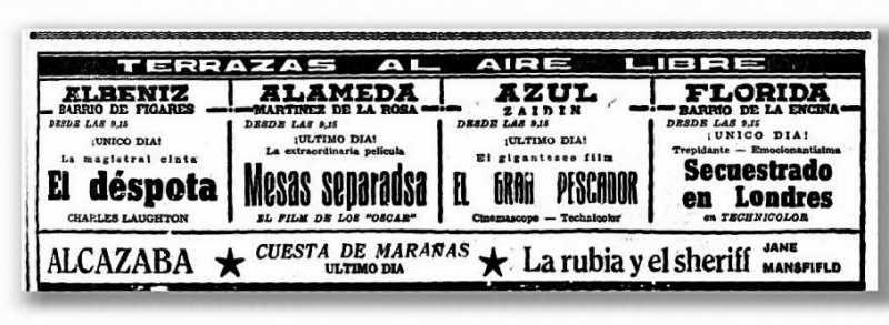 Cartelera 9 agosto 1962