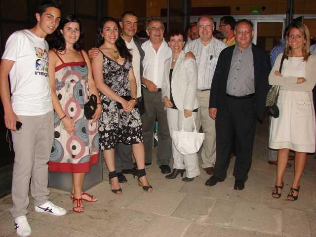 La delegación granadina encabezada por Emilio Herrera, Decano del COAG.