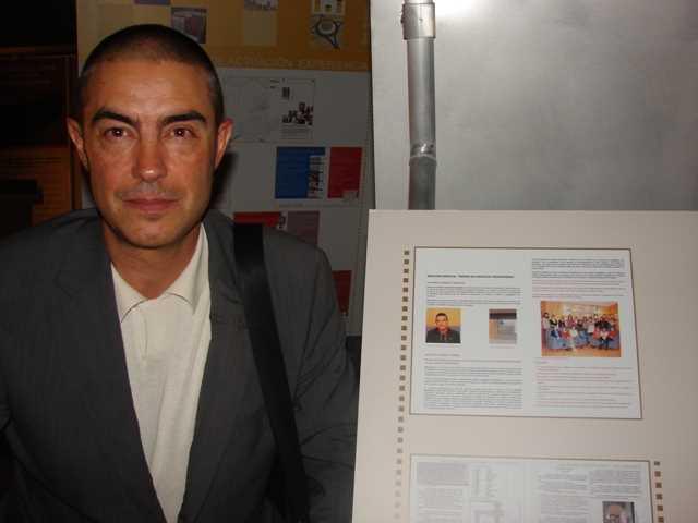 En la exposición de los seleccionados junto a la mención de GR arquitectos.