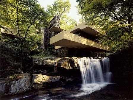 La conocida Casa de la Cascada.