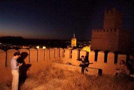 Detalle del concierto en una torre de La Alcazaba con la catedral de Guadix al fondo./ Torcuato Fandila