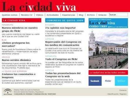 Página web de Ciudad Vida.