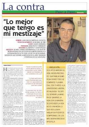 """Contraportada del periódico municipal """"Paso a Paso""""."""