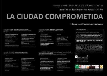 Cartel oficial de los Foros Profesionales de Arquitectura y Urbanismo.