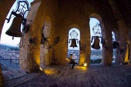 Interior del campanario de la Torre de la Catedral de Guadix./ Torcuato Fandila