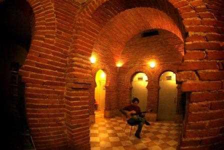 Detalle del interior de los Baños árabes de Graena./ Torcuato Fandila