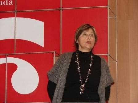 Esperanza Caro durante su intervención./ Angie