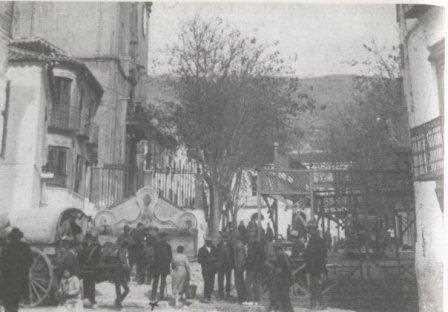 La fuente de los tres caños de Órgiva en 1924.