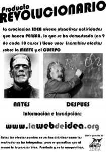"Cartel ""Antes y Después"" de IDEA."