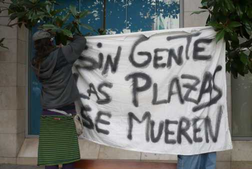 Concentración en la Plaza del Carmen el pasado 27 de noviembre.