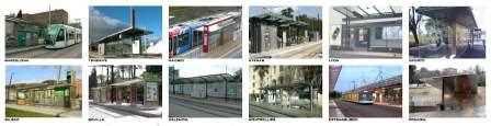 Ejemplos de paradas de diferentes ciudades.