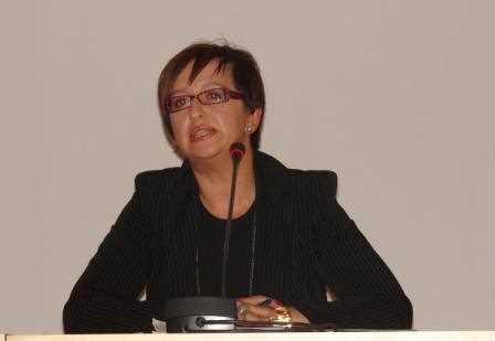 Nieves Masegosa durante su intervención./ Angie