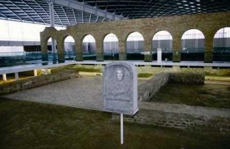 Interior de la Villa Romana de Olmedo.