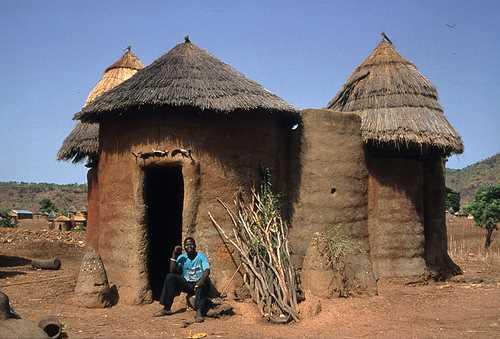Kutammaku en Togo-África. Las casas de barro.