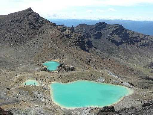 Lago Esmeralda en Tongariro, Nueva Zelanda.
