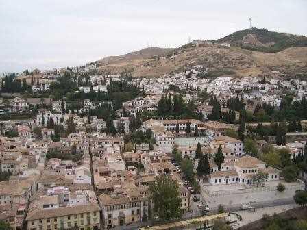 El Albayzin visto desde la Alhambra.