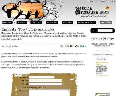 La web de Tertulia Andaluza.