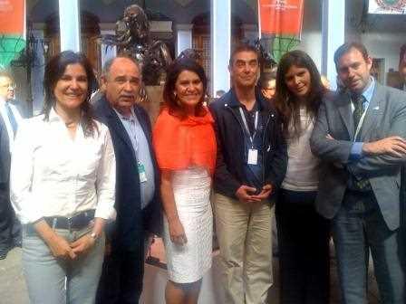 Junto a Elena Barreda, alcaldesa de Toluca.