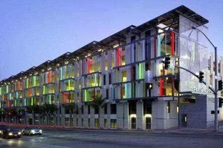 Edificio de colores.
