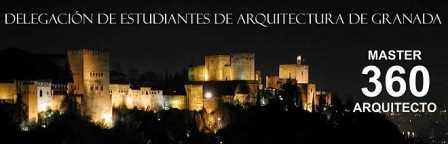 Banner de la Delegación de Estudiantes de Arquitectura de Granada.