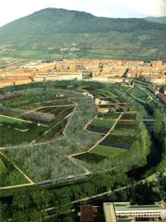 Vista aérea del Parque de Aranzadi.
