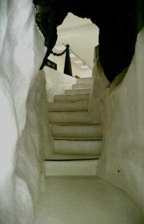 Unas escaleras de la casa.