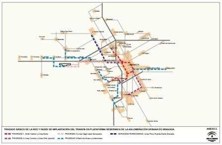 Plano del Metropolitano de Granada.