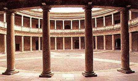 Interior del Palacio de Carlos V.