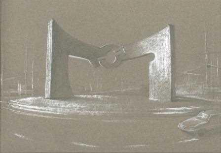Boceto original de la escultura 'La Puerta de las Culturas'.