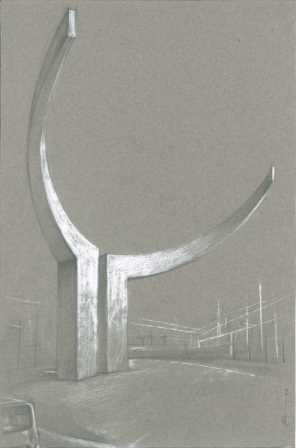 Un nuevo boceto más avanzado de la escultura taurina de Atarfe.