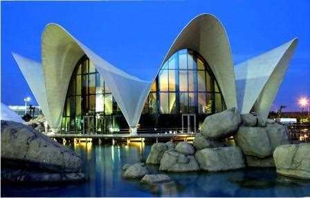 Cubierta del Restaurante Oceanografic de Valencia.