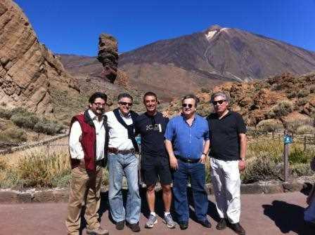 """Juan Carlos García de los Reyes junto al resto de la """"expedición"""" que visitó el Teide."""