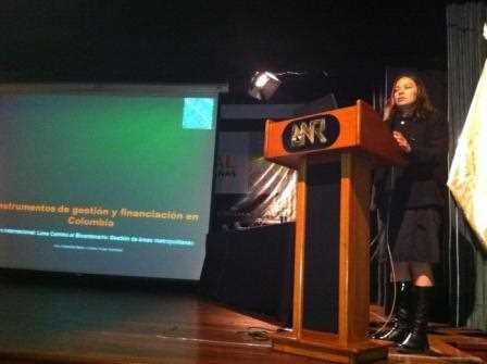 María Cristina Rojas Eberhard durante su intervención