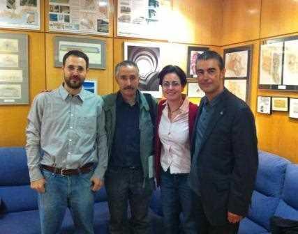 Alberto, Salvador, Carolina y Juan Carlos en la sede principal de GRarquitectos.
