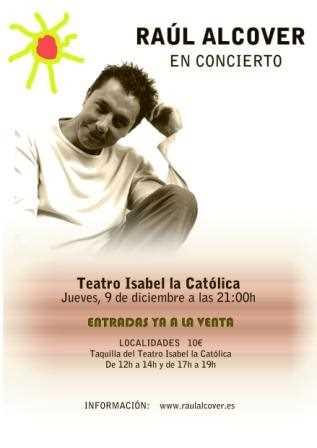 Cartel del concierto de Raúl Alcover.