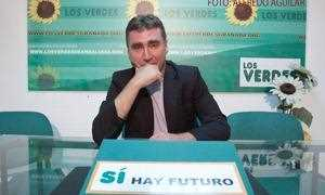 El candidato Mario Ortega de Los Verdes.