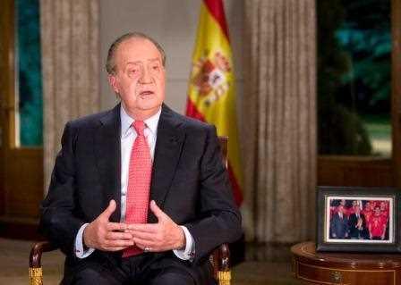 El Rey Juan Carlos I durante su discurso de Navidad.