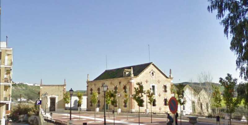 """El entorno de la harinera y fábrica de luz """"La Alianza"""" de Puente Genil, Córdoba. Fuente: Google Maps"""