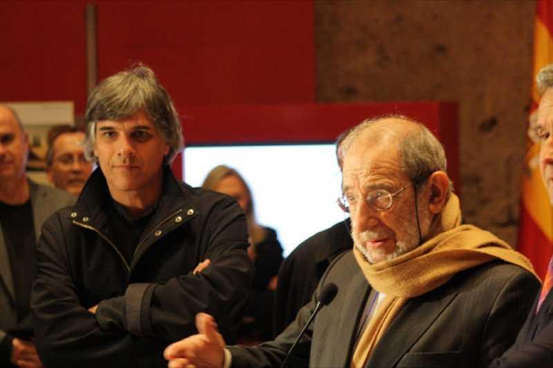Juan Domingo Santos y Alvaro Siza