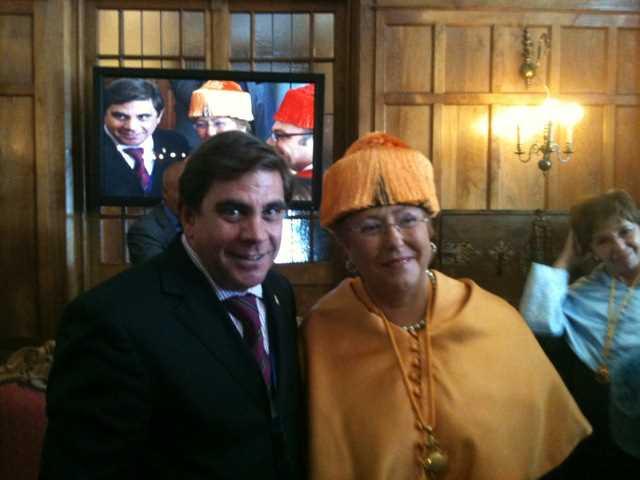 Federico con Bachelet