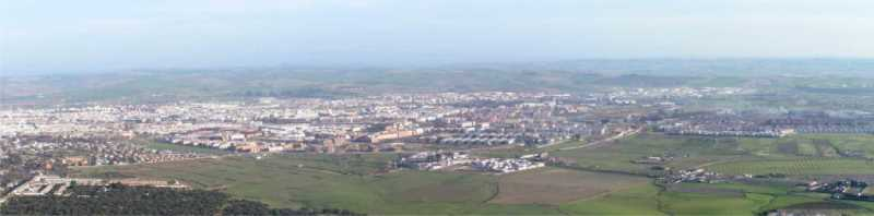 Panorámica de Córdoba desde la Sierra