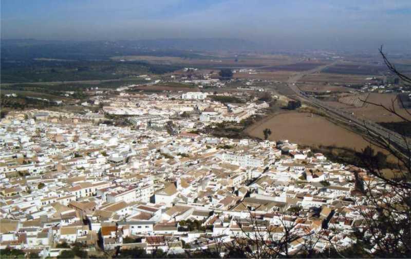 Vista de Almodóvar del Río y de la vega del Guadalquivir desde el Castillo de Almodovar