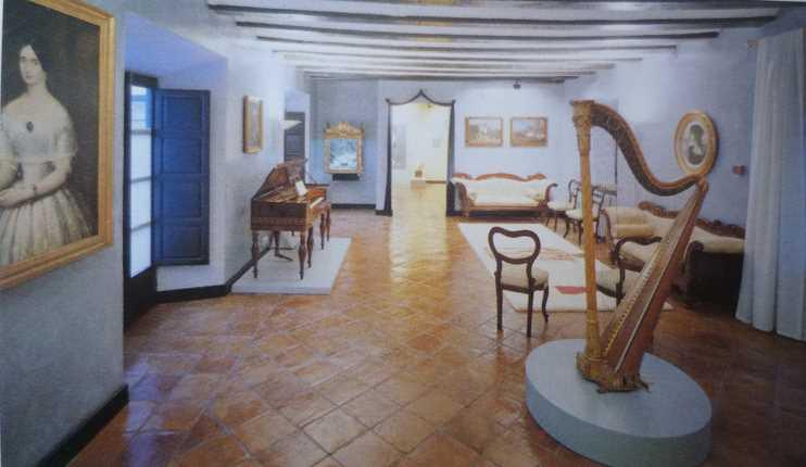 Vista general de la Sala Gabinete Isabelino. Imagen de la guía oficial museo casa de los tiros de granada
