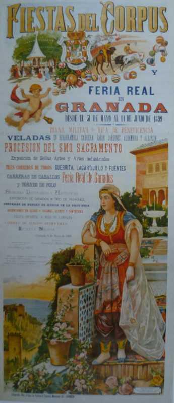 Cartel de las Fiestas del Corpus, realizado por Isidoro Marín.