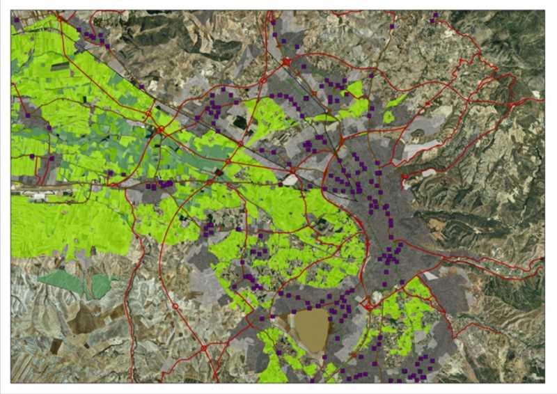 Imagen de la aglomeración urbana de Granada