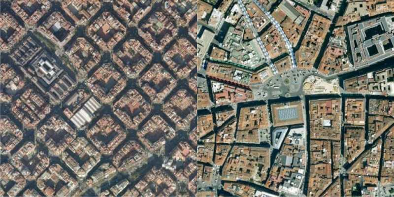 A la izquierda, imagen de Barcelona. A la derecha, Madrid